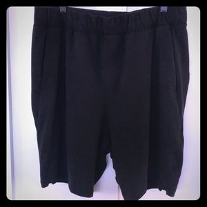 Men's black Lululemon cotton shorts